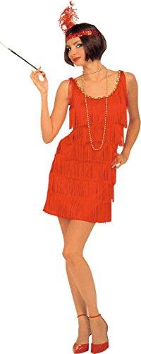 Damen 1920's Charleston Tänzerin Flapper Fancy Dress Kostüm Outfit–Eine Größe (Halloween Flapper Tänzerin Kostüm)