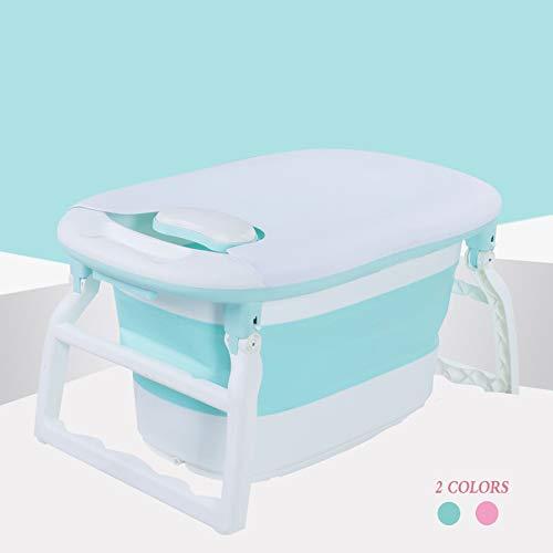 LYXCM Babywanne Faltbar, Kunststoff-Faltbadewanne, Tragbare Faltbadewanne, Faltbare Duschwanne Für Kinder, Badewanne, 88 * 56 * 43 cm, 2 Farben,Grün -