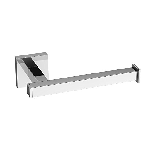modern chrome toilet roll holder wall mounted square bathroom accessory acc120