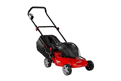 Sharpex 1800 Watt Electric Lawn Mower | Single Phase 2.5 HP Mottor, Folding Handle and Detachable Collection Box | Adjustable Height Mower (16 Inch Cutting Blade)