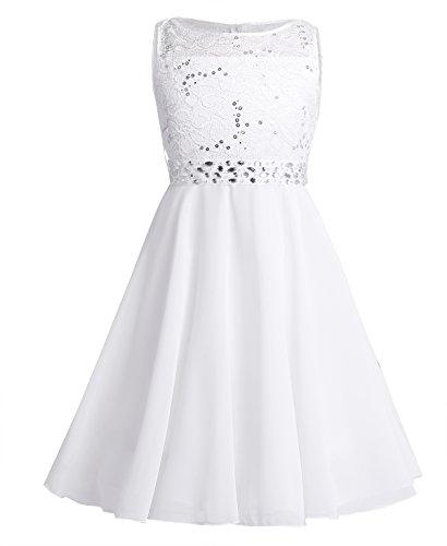 Freebily Blumenmädchenkleid für Hochzeit Mädchen Festlich Kleid für Party Geburtstag...