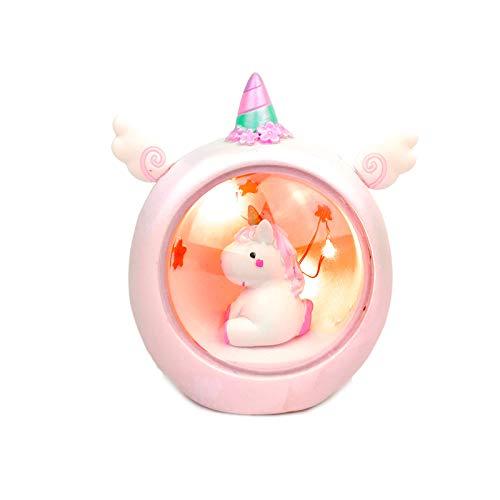 TriPro Handgefertigte Keramik-Einhorn-Nachtlicht, Einzigartiges Einhorn Startseite Nursery Dekoration Geschenk Für Kinder rosa