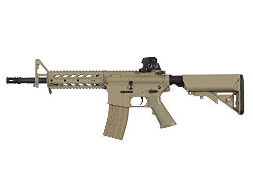 "BEGADI Eco Mark 1"" M4 Vollauto Softair/Airsoft AEG mit Metallgearbox -TAN- < 0,5 Joule"