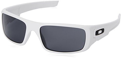 Oakley Herren Sonnenbrille Crankshaft Polished white/Grey, 60