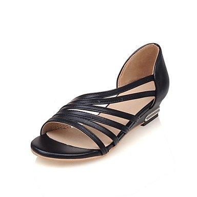 Zormey Damen Sandalen Sommer Club Schuhe Komfort Kunstleder Büro & Amp; Karriere Dress Casual Niedrigem Absatz Geflochtenen Draht US12 / EU44 / UK10 / CN46