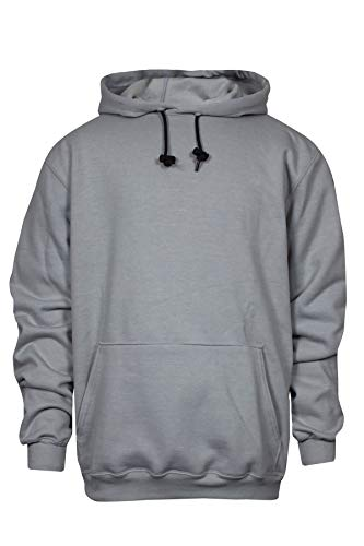 National Sicherheit Apparel c21ig032 X 14 oz feuerbeständig Modacryl Blend Fleece Kapuzenpullover Sweatshirt, grau, Medium, grau, 1 Arc Hoody