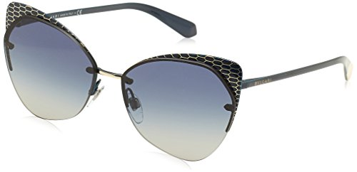 Bulgari Damen 0Bv6096 20204L 58 Sonnenbrille, Blau (Blute/Grey Blue),