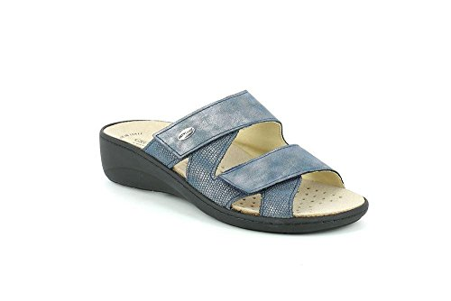 GRÜNLAND Ce0610, Pantofole Aperte sul Retro Donna Blu