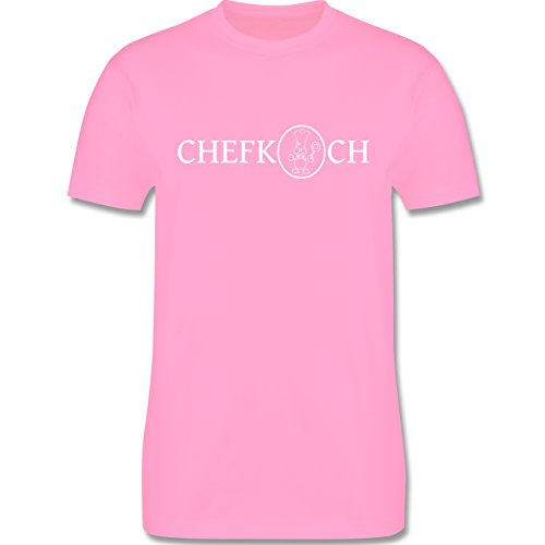 Küche - Chefkoch - Herren Premium T-Shirt Rosa