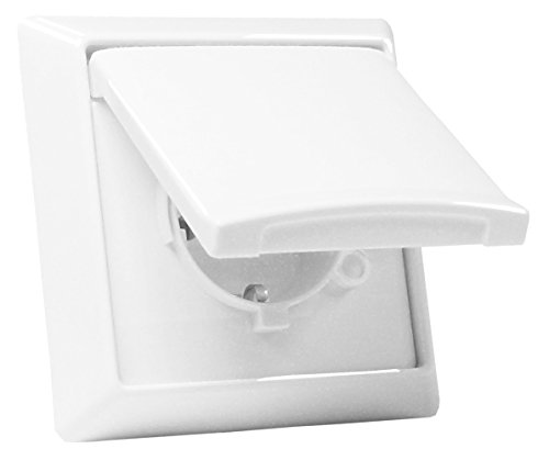 Preisvergleich Produktbild Busch-Jaeger Allwetter 44 Steckdose + Abdeckungen - weiß