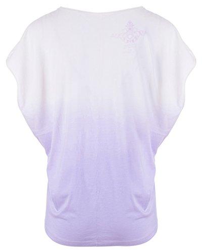 kamah T-shirt Lilas/blanc