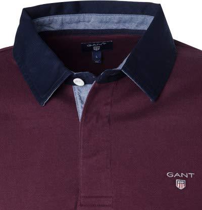 GANT Herren Polo-Shirt Wolle T-Shirt Uni & Uninah Rot 5XL