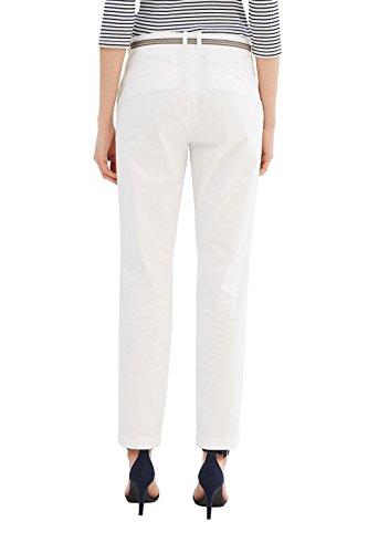 ESPRIT Collection Damen Hose Weiß (Off White 110)