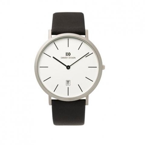 Danish Design Gents Black Leather Wristwatch