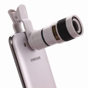 I-Sonite (weiß 8X Zoom Universal Optische Lupe Teleskop Telefon-Kamera-Objektiv-Kit, Manueller Fokus auch für Fit for Verizon Ellipsis Kids Zoom Verizon Wireless
