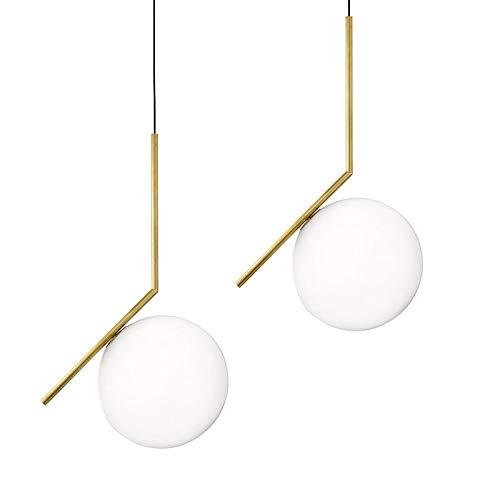 SONGTONG Kronleuchter Glaskugel Kronleuchter kreative weiches Licht Studie Nachttischlampe 360-Grad-Bekleidungsgeschäft Teestube berühmten Ball Lampe