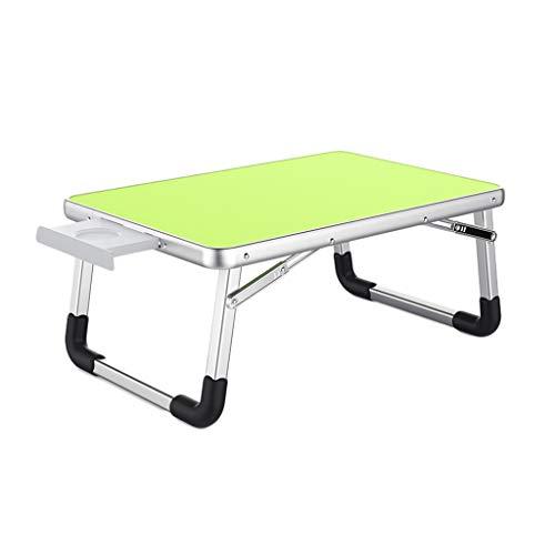 Lapdesks Laptop Tisch Aluminium Klapphalterung Laptop Halterung Tragbare Bett Tisch Schreibtisch Kleine Tabelle Leserahmen (Color : Green, Size : 70 * 50 * 32cm) -