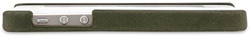 StilGut exklusives Cover für die Rückseite aus echtem Leder für Apple iPhone 5 & iPhone 5s, Schwarz Vintage Old Style Lawn Green