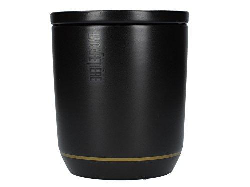 CREATIVE TOPS La Cafetière Edited Wärmeisolierte Espressotassen aus Keramik, 70 ml - Mattschwarz/Gold (2er-Set), One Size