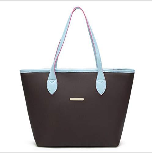 PU Leder Handtaschen Ladies Handtaschen Lässige Frauen-Schultertasche Mode Handtaschen Mumie Eimer Tasche Mode Big Bag,Blue