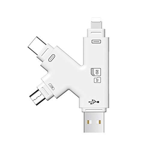 USB 3.0 All In One Kartenleser TF Kartenleser USB Card Reader Adapter TF SD Kartenleser Für IOS-Geräte, IPhone Und IPad, Micro-USB-Anschluss Für Android-Telefone, TYPE-C-Anschluss Für USB-C-Geräte