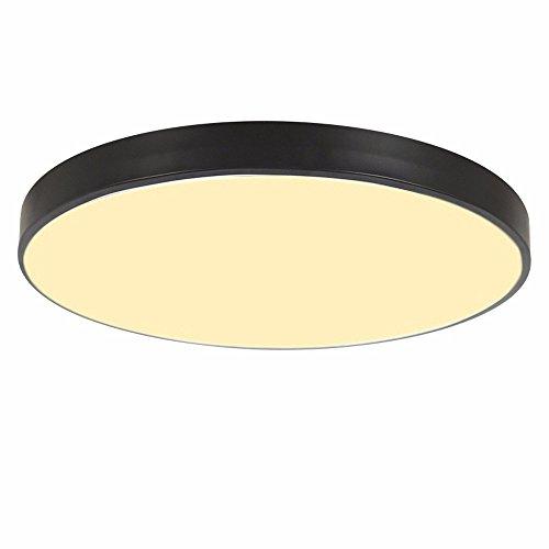 Deckenventilator 5 Licht, (PANNN Runde Deckenlampe Ultra-dünne LED Deckenleuchte Modern Einfachheit Pendelleuchte Stärke 5 cm Kinder Deckenlampe für Wohnzimmer Schlafzimmer Kinderzimmer Restaurant Balkon Innenbeleuchtung, schwarz, 30cm warmes Licht)