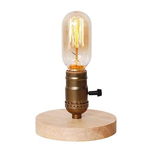 Pointhx Industriel Vintage En Bois Bureau Lumière Edison Personnalité Américaine Tube Table Lumineuse Table Basse Chambre Chambre De Bureau Lampe De Nuit (Taille : 1pc)