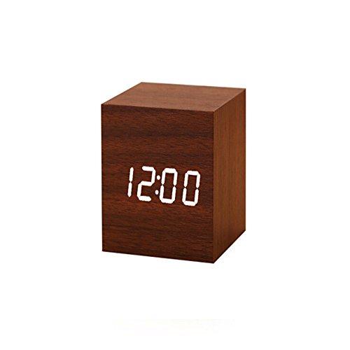 WANGZZZ Creative Voice Control Led Wood Clock