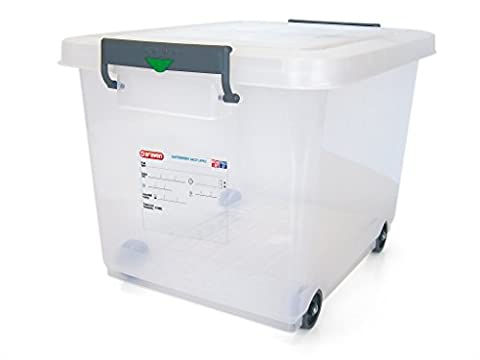 Araven 91183 Food Storage Box, Lid with Wheels and Colour