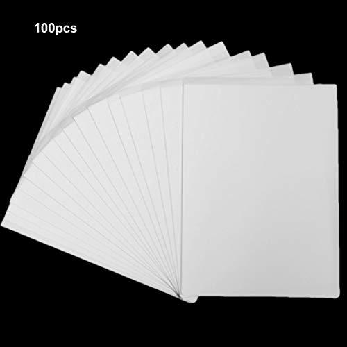 Multifunktions A4 Transferpapier Dye Sublimation Heat Transfer Papier für Modal T-Shirts Beschichtete Becher Handytaschen (Farbe: weiß) (Größe: 100 Stück) -