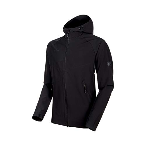 Mammut Herren Macun Softshell-Jacke Mit Kapuze, Black, XL (Patagonia-hooded Fleece)