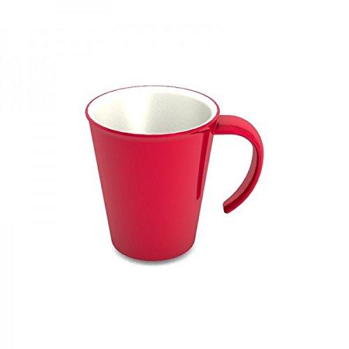 Ornamin Kaffeepott 300 ml rot (Modell 1201) / Kaffeebecher, Mehrwegbecher Kunststoff