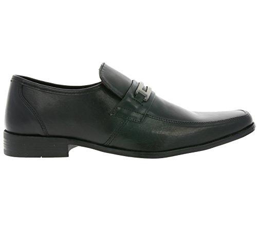 Herren Schwarz Halbschuhe 01 Schwarz Schuhe M18372 Slipper RED TAPE Nevis Echtleder vWtwcOSq