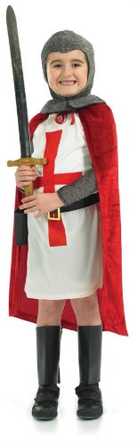 St George Kreuzfahrer-Ritter - Kinder- (Kinder Kostüm 300 Für)