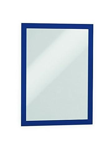 Durable 489907 Duraframe Pochette Cadre d'Affichage Dos Adhésif pour Document A4 Bleu Foncé Sachet de 1