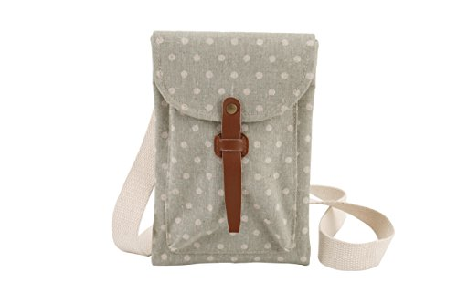 polka-dot-across-body-bag-ideal-for-tablet-camera-phone-front-pocket-4-colours-to-choose-from-green
