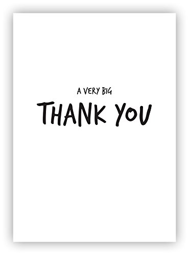 "5 x Moderne Dankeskarte ""A very big thank you"" (A6 Format, inkl. Umschlag)"