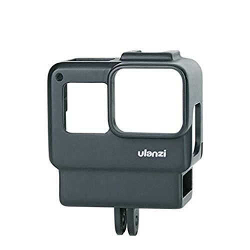 Ulanzi V2 Vlogging-Tasche mit Stativ für Gopro, Handheld-Schutzgehäuse, Vlogging-Rahmen, Käfighalterung mit Mikrofon, Kaltschuh-Adapter, kompatibel für GoPro 7 6 5, Action Kamera Zubehör - Hand-held-gps-fall