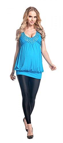 Happy Mama Femme maternité jolie la robe ballon de grossesse sans manches 024p Cyan