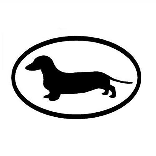 Zybnb 15,2 * 9,8 Cm Dackel Hund Vinyl Aufkleber Auto Abdeckung Kratzer Tier Persönlichkeit Cartoon Aufkleber Schwarz/Weiß-3 Stücke