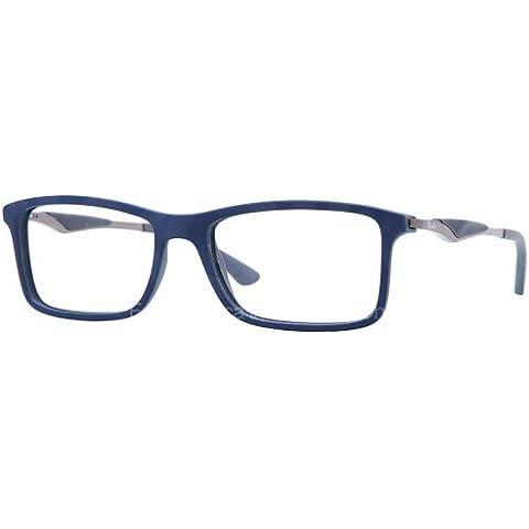 Ray Ban occhiali RX RX 7023 7023 5260 plastica acetato Blu - Grigio