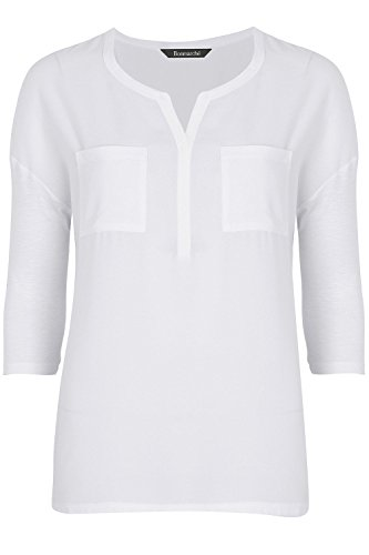ex-stores-ladies-womens-pocket-work-smart-loose-fit-blouse-top-black-bugundy-white-10-24-16-white