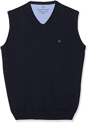 FYNCH-HATTON Herren Pullunder V-Neck Pullover Blau (Navy 690) Large