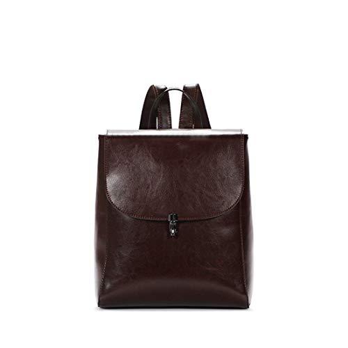 Uzanesx Echtes Leder Satchel Geldbörsen und Handtaschen Schulter Tote Taschen für Frauen (Color : Red) -