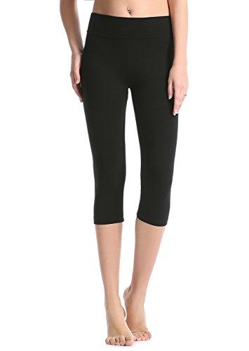 Large, Balck - ABUSA Women's Running Tights Yoga Pants