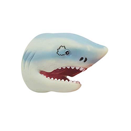 Toyvian Marioneta Mano Lindo tiburón Silicona Suave