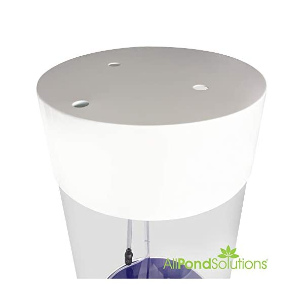 All Pond Solutions Column Cylinder Aquarium Fish Tank – JY-500 147 Litres – White