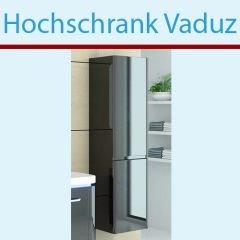 Black Hochschrank (Jet-Line Badschrank schwarz Hochglanz Badmöbel Schrank Vaduz Black Hochschrank)