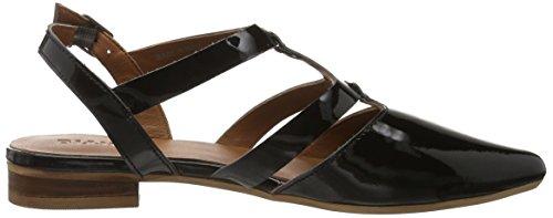 Bianco Open Slingback Shoe Mam16, Sandales  Bout ouvert femme Noir (Black 10)