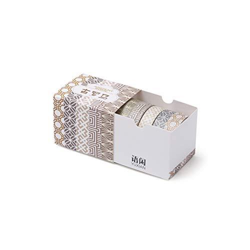 hachtel Einfache Farbe Karierten Streifen Band Scrapbooking Planer Masking Tape Klebeband Schreibwaren DIY Dekoration ()